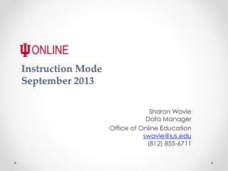 Instruction  Mode September 2013