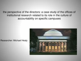 Researcher: Michael Healy