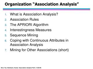 organization  association analysis