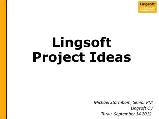 Lingsoft Project Ideas