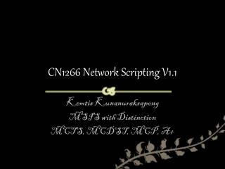 CN1266  Network  Scripting V1.1