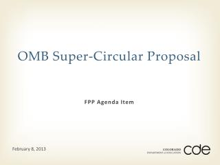 OMB Super-Circular Proposal