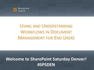 Using and Understanding Workflows in Document Management for End Users