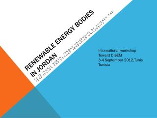 Renewable Energy Bodies in Jordan