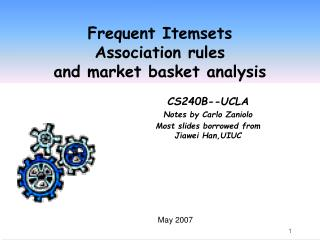 frequent itemsets association rules  and market basket analysis
