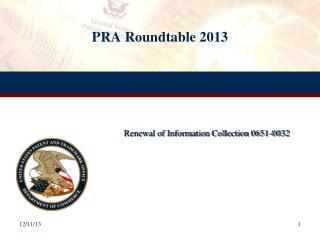 PRA Roundtable 2013