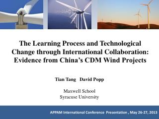 The Learning Process and Technological Change through International Collaboration: Evidence from China's CDM Wind Proje