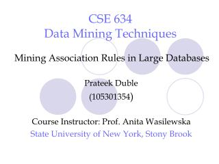 cse 634 data mining techniques