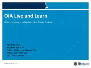 OIA Live and Learn