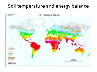 Soil temperature  and energy balance