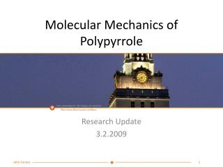 Molecular Mechanics of Polypyrrole