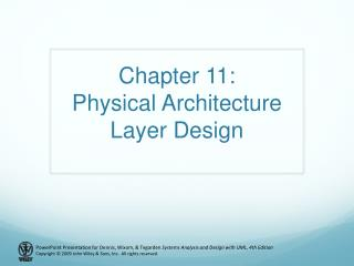 Chapter  11: Physical Architecture Layer Design