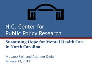 N.C. Center for  Public Policy Research