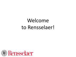 Welcome to Rensselaer!