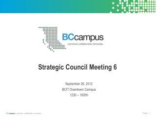 Strategic Council Meeting 6
