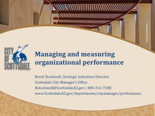 Managing and measuring organizational performance