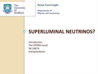 Superluminal Neutrinos?