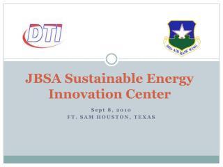 JBSA Sustainable Energy  Innovation Center