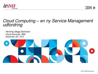 Cloud Computing – en  ny  Service Management  udfordring