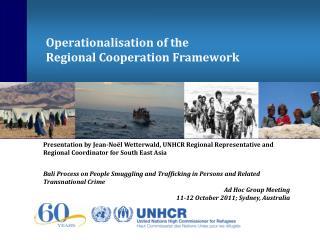 Operationalisation of the Regional Cooperation Framework