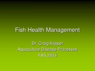 fish health management