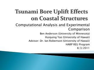 Tsunami Bore Uplift Effects on Coastal Structures