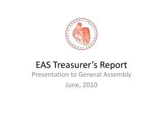 EAS Treasurer's Report