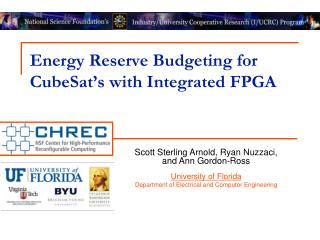 Energy Reserve Budgeting for  CubeSat's  with Integrated FPGA