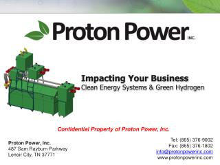 Impacting Your Business Clean  Energy Systems & Green Hydrogen