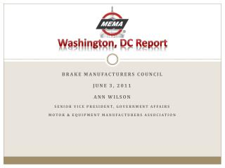 Washington, DC Report