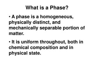 What is a Phase?
