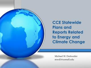 CCE Statewide  Plans and  Reports Related to Energy and Climate Change