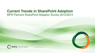 Current Trends in SharePoint Adoption