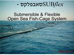 submersible  flexible open sea fish-cage system