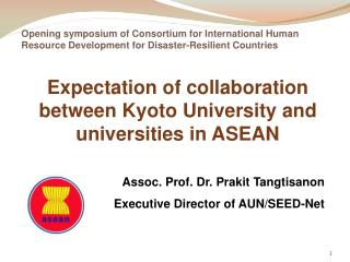 Expectation of collaboration between Kyoto University and universities in ASEAN