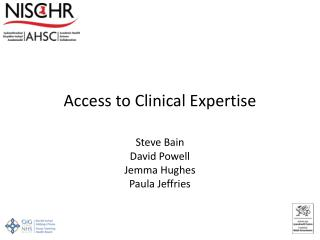 Access to Clinical Expertise