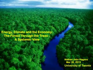 Energy, Climate and the Economy:  The Forest Through the Trees –  A Systemic View