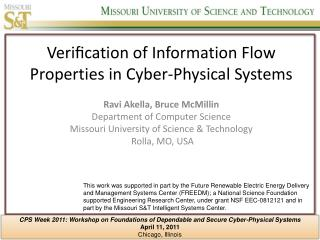 Verification of Information Flow Properties in Cyber-Physical Systems
