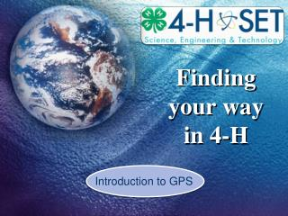 Finding  your  way in 4-H