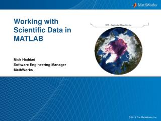 Working with Scientific Data in MATLAB