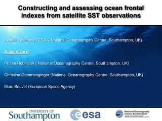 Constructing and assessing ocean frontal indexes from satellite SST observations