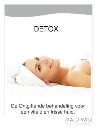 De  Ontgiftende behandeling voor een  vitale en  frisse huid .