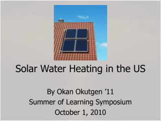 Solar Water Heating in the US