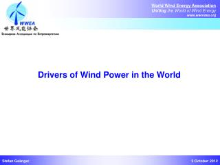 Drivers of Wind  Power  in  the World