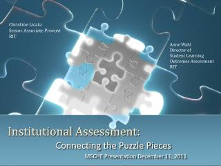 Institutional Assessment: