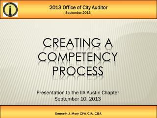 2013 Office of City Auditor September 2013