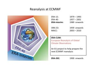 Reanalysis at ECMWF