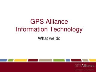GPS Alliance Information Technology