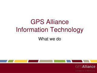 GPS Alliance Information Technology