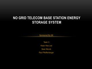 No Grid Telecom Base Station Energy Storage System